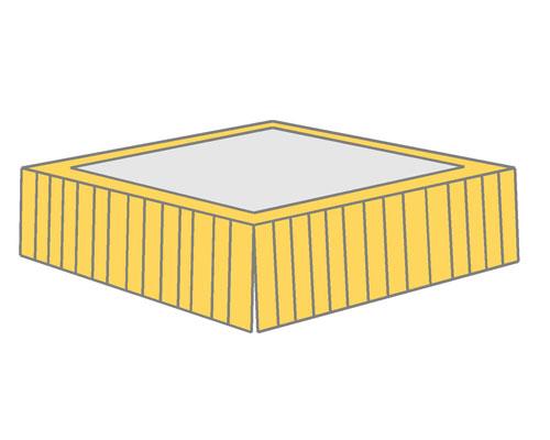 Box Pleated