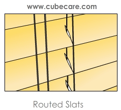 Routed Slats
