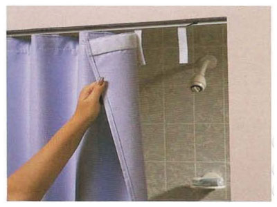 Shower Curtain With Safety Tab Header No Mesh